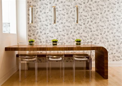 Acrylic Dining Chairs Dining Room Contemporary With Black