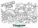 Coloring Summer Preschool Pages Comments sketch template