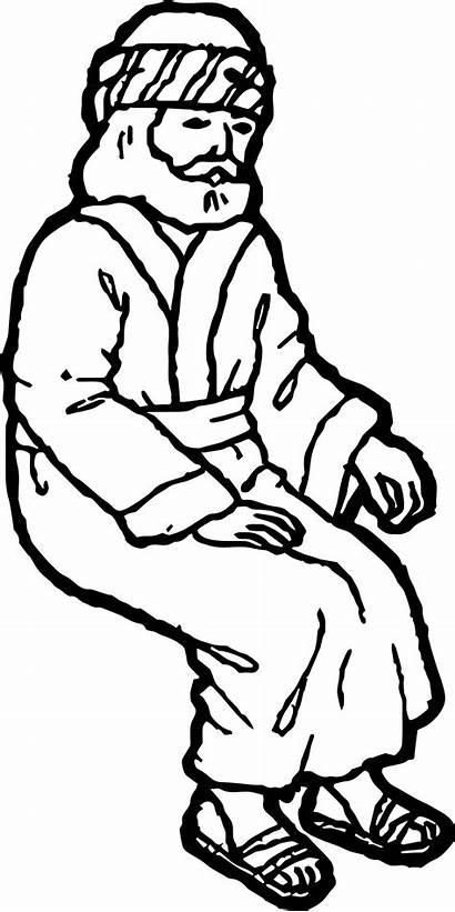 Zacchaeus Coloring Clipart Jesus Template Printable Clip