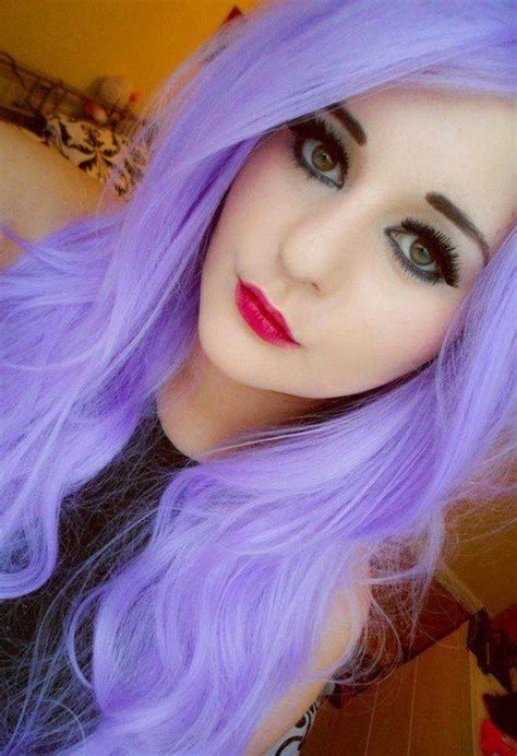 Bright Light Purple Hair Hair And Makeup Pinterest