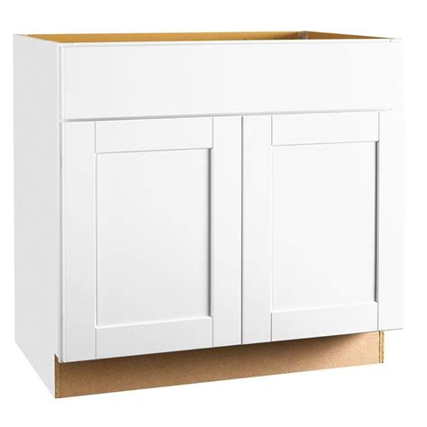 home depot white cabinets hton bay shaker assembled 36x34 5x24 in sink base