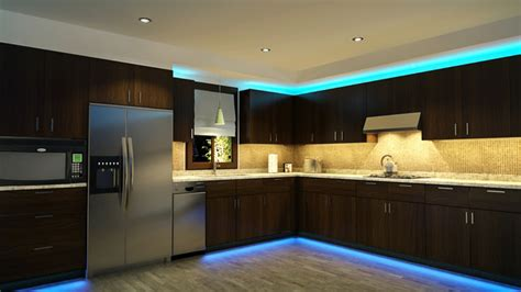 Ideas For Kitchen Window Treatments - led kitchen cabinet and toe kick lighting contemporary