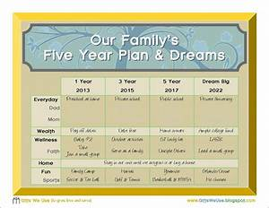 gifts we use family 5 year plan a printable With 5 year goal plan template