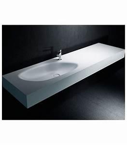 Vasque En Corian : lavabo sun plus corian plan vasque sur mesure ~ Premium-room.com Idées de Décoration