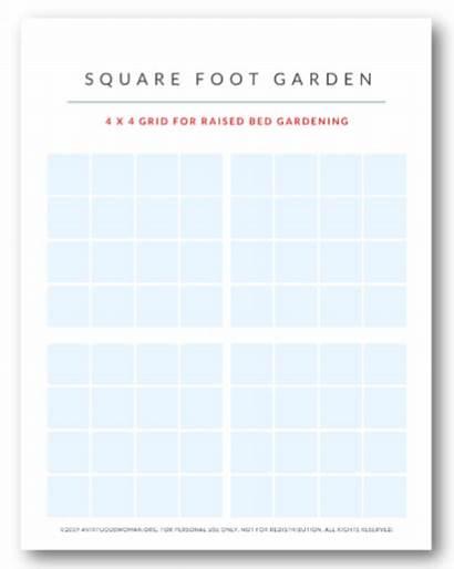Garden Planner Grid Foot Square Avirtuouswoman Planning