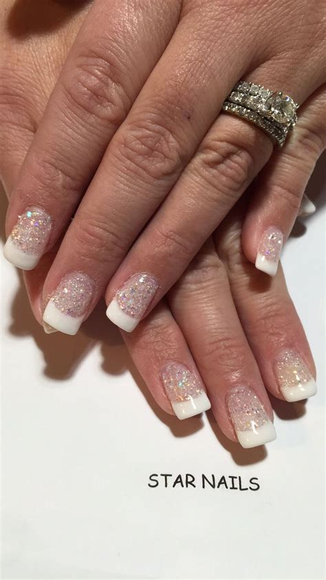 gelous dip powder sparkle french manicure sparkle french