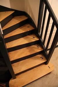 un escalier relooke par wwwinitialdecofr id deco With peindre un escalier en pierre 0 maytop tiptop habitat habillage descalier renovation