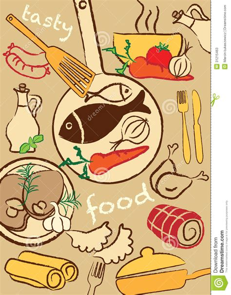 illustration cuisine set food illustration stock vector image of healthy