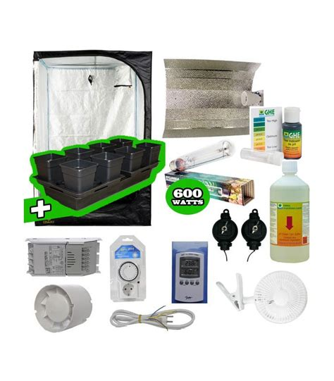 chambre culture indoor pack basic tente eclairage systeme hydro pack complet