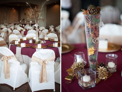 100 Best Images About Gold Burgundy Table Decorations On