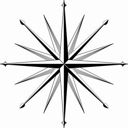 Compass Rose Clip Outline Cool Nautical Tattoo
