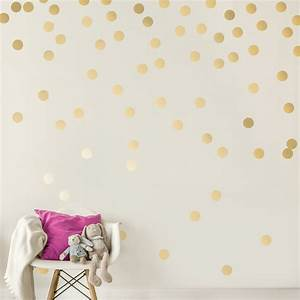 c053 gold wall decal dots easy peel stick round circle art With decorate with gold circle wall decals