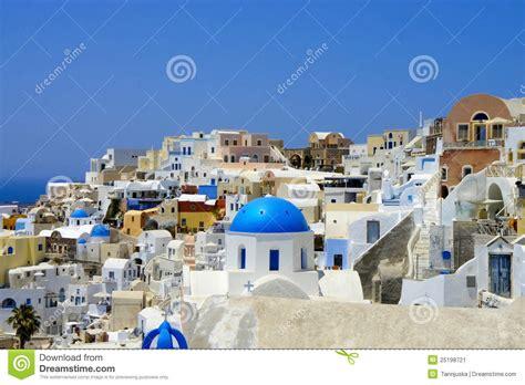amazing white houses  santorini stock image image