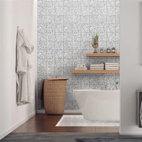 stickers carrelages terrazzo salle de bain  wc