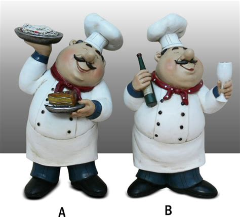 Italian Chef Kitchen Wall Decor by Chef Kitchen Decoration Set Table Statue Bistro