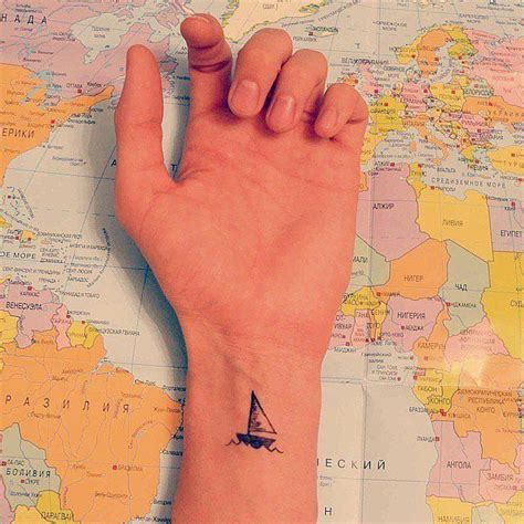Boat Outline Tattoo by 50 Beautiful Minimalist And Tiny Tattoos From Geometric