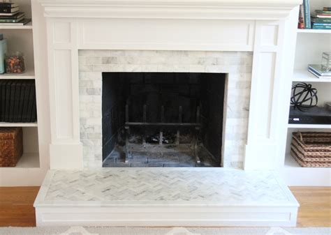 fireplace makeover tiling the surround shine your light