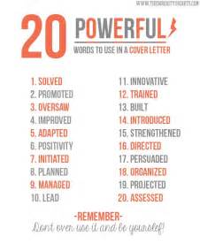 words to put on your resume 20 powerful words to use in a resume