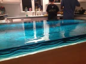 blue countertop kitchen ideas blue wave glass counter top modern kitchen other metro by artistic glass solutions