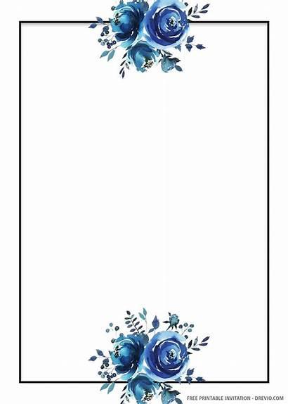 Invitation Floral Printable Invitations Template Templates Tarjetas