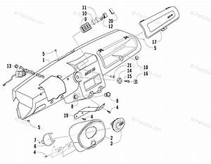 Arctic Cat Side By Side 2008 Oem Parts Diagram For Dash