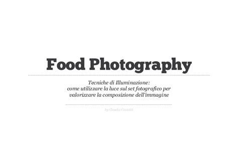 Tecniche Di Illuminazione Tecniche Di Illuminazione Foodc 14