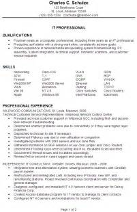 resume it professional experience resume sle for an it professional susan ireland resumes
