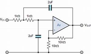 second order filters second order low pass filter With active filter types