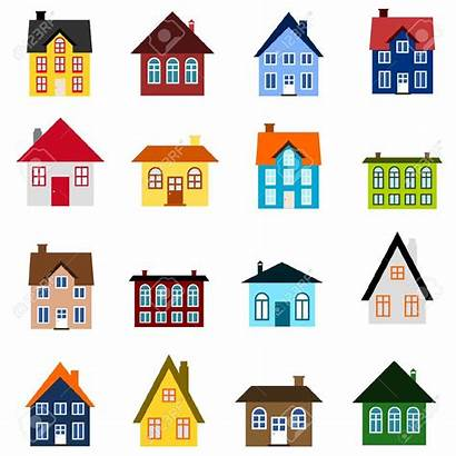 Neighborhood Clipart Houses Clip Homes Icon Coloured