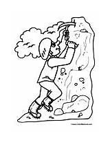 Coloring Rock Climbing Climber Pages Mountain Sports Rockclimbing Colormegood sketch template