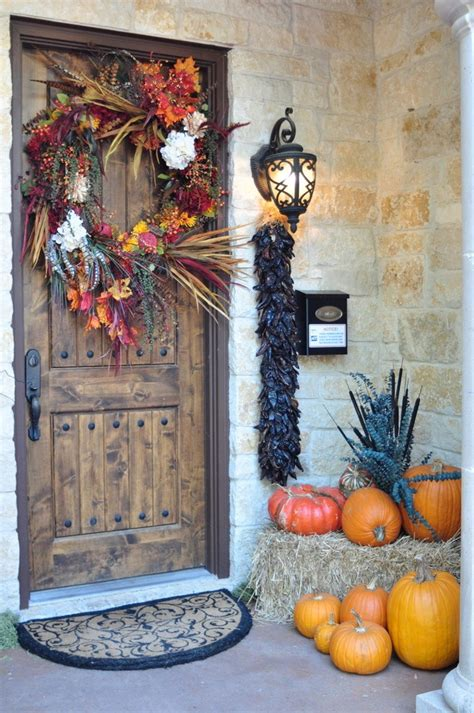 easy thanksgiving front door decorations ideas