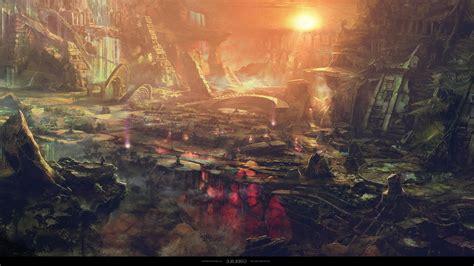 fantasy art moba video games sun ancient  godlike