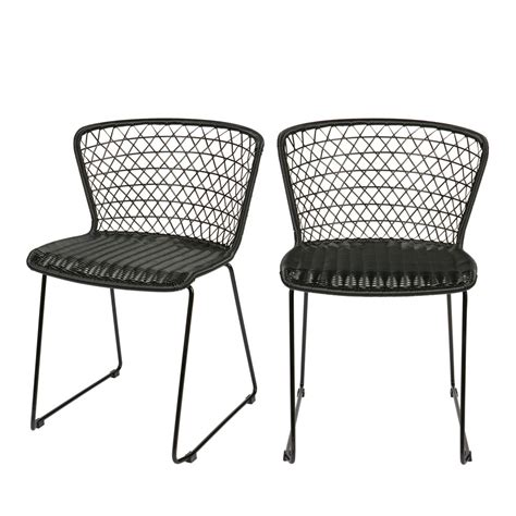 lot de chaise de jardin chaises de jardin en corde x2 quadro drawer