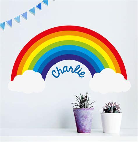 personalised rainbow wall sticker by oakdene designs notonthehighstreet