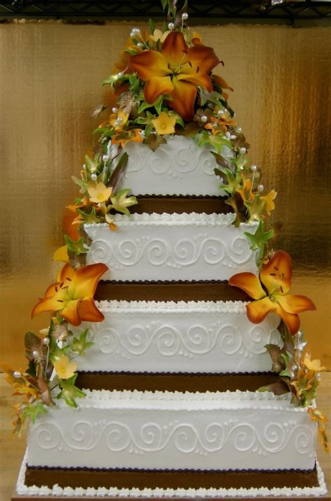 Fall Themed Wedding Cake By Theevilplankton On Deviantart