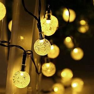 qedertek globe outdoor solar string lights 20ft 30 led With 20 foot outdoor string lights