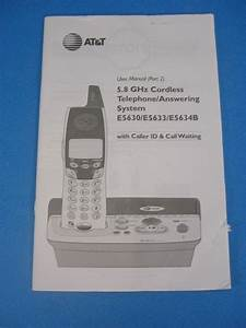 At  U0026 T 5 8 Ghz Cordless Phone  Answering System E5630  E5633