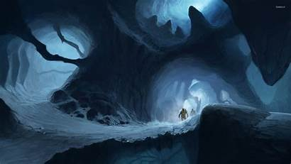 Cave Wallpapers Fantasy Icy Astronaut Sci Cat