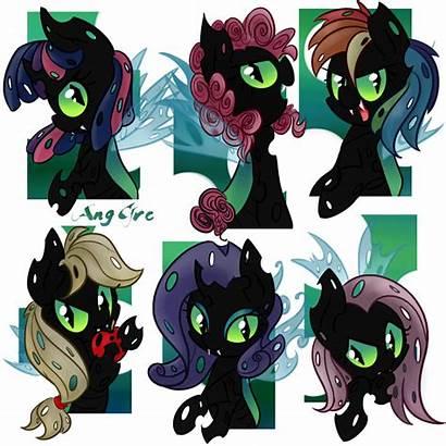 Ponies Pony Changelings Deviantart Mlp Changeling Mane