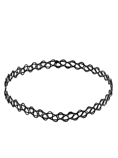 Black Soft Wire Tattoo Choker - Buy Online at Grindstore.com