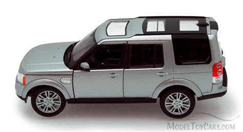 toy range rover land rover discovery silver welly 24008 1 24 scale