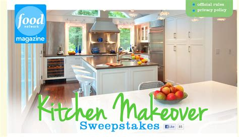 Food Network Magazine $50,000 Kitchen Makeover Sweepstakes