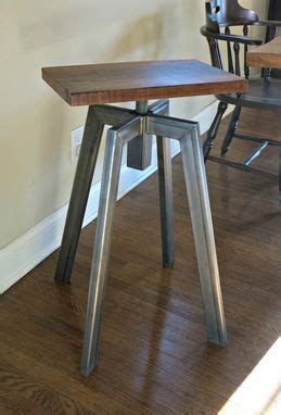 hand crafted industrial inspired bar stool  donald mee
