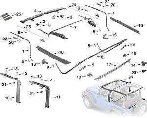 Jeep Wrangler Jk Soft Top Hardware Parts 2 Door