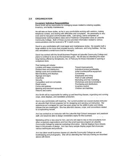 retail business plan templates docs  word
