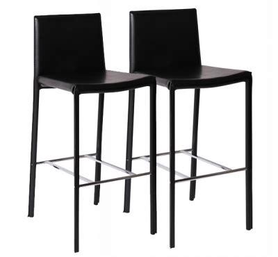 acheter chaise de bureau tabouret de bar noir design en bois laqué pas cher