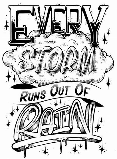 Graffiti Lettering Coloring Pages Quotes Quote Hand