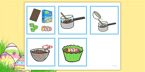 step sequencing cards making crispie cakes sequencing