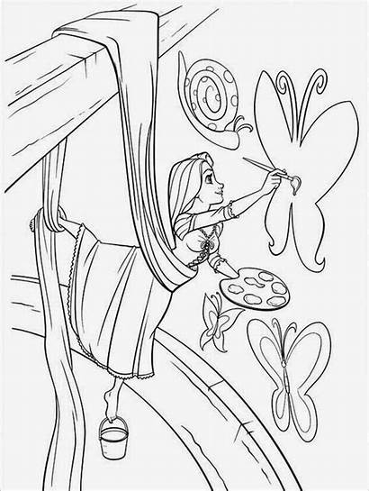 Coloring Tangled Pages Printable Rapunzel Pascal Maximus