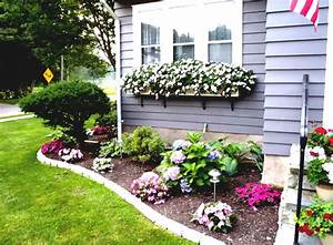 Flower bed ideas for front of house back front yard for Front yard flower garden ideas